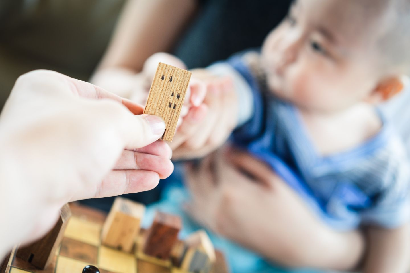 Blocks handed to child
